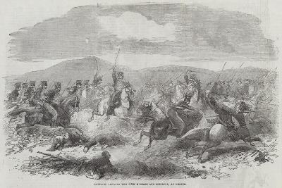 Conflict Between the 10th Hussars and Cossacks, at Kertch--Giclee Print