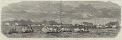 Conflict Between the Peruvian Forts and Batteries at Callao and the Spanish Fleet--Giclee Print
