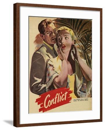 Conflict, Illustration from 'John Bull', 1952--Framed Giclee Print
