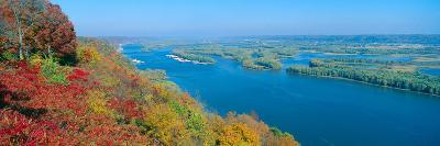 Confluence of Mississippi and Wisconsin Rivers, Iowa--Photographic Print