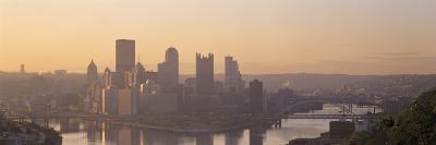 Confluence of Rivers at Twilight, Allegheny and Monongahela Rivers, Pittsburgh, Pennsylvania, USA--Photographic Print
