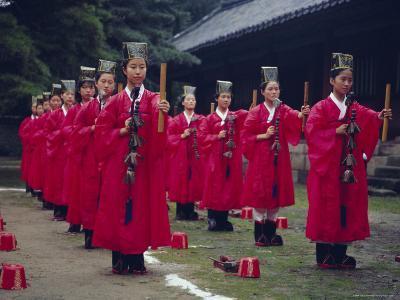 Confucian Ceremony, Chonghyo Shrine, Seoul, South Korea, Korea, Asia-Alain Evrard-Photographic Print