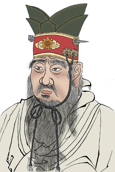 Confucius (551-479 BC), Chinese philosopher. From a rubbing of a marble slab in a Confucian temple-Unknown-Giclee Print