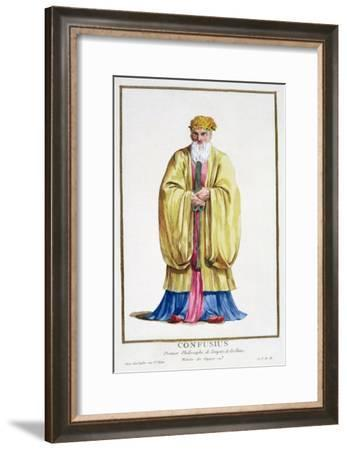 Confucius, ancient Chinese philosopher, (1780)-Pierre Duflos-Framed Giclee Print