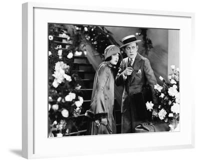 Confused Couple with Luggage--Framed Photo
