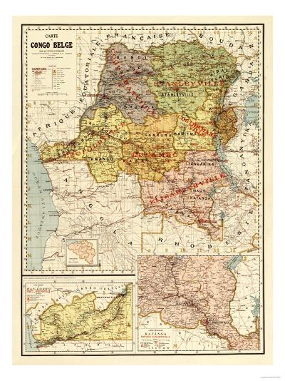 Congo - Panoramic Map-Lantern Press-Art Print