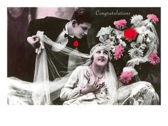Congratulations, Bride and Groom--Art Print