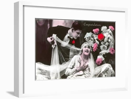Congratulations, Bride and Groom--Framed Art Print
