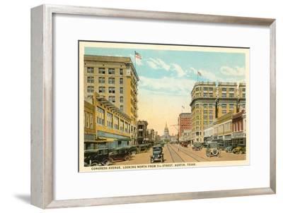 Congress Avenue, Austin, Texas--Framed Art Print