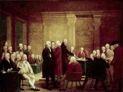 Congress Voting Independence-Robert Edge Pine-Giclee Print