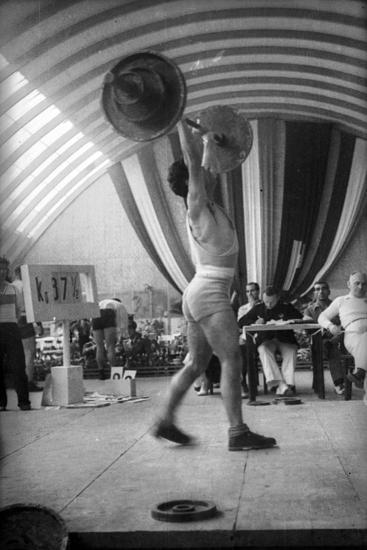 Coni Sporting Event: the Rate of Weight Lifting-Luigi Leoni-Photographic Print