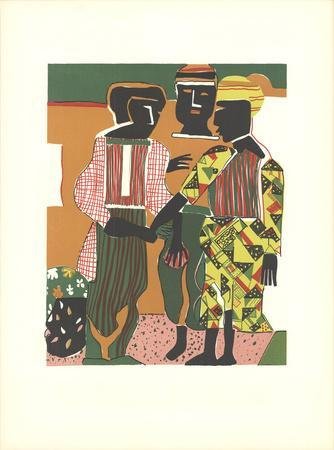 Conjunction-Romare Bearden-Lithograph