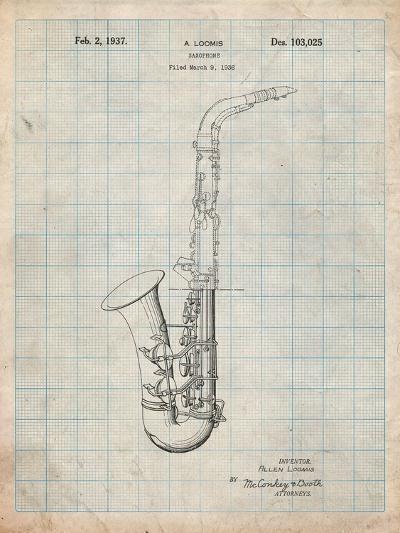 Conn a Melody Saxophone Patent-Cole Borders-Art Print