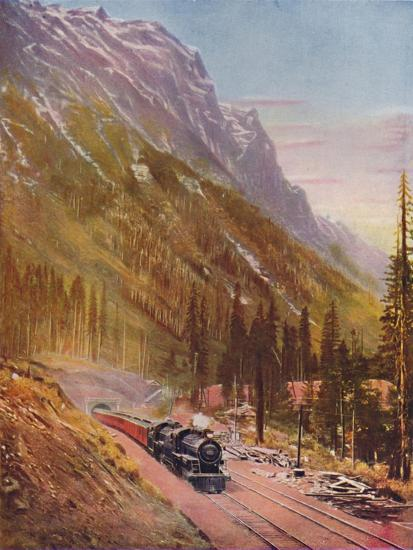 'Connaught Tunnel, in the Selkirk Mountains. Canadian Pacific Railway', 1926-Unknown-Giclee Print