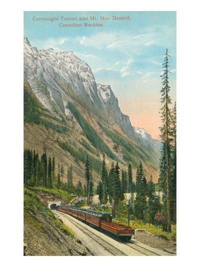 Connaught Tunnel, Mt. Macdonald, Canadian Rockies--Art Print
