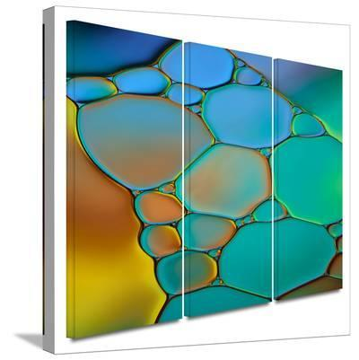 Connected II 3 piece gallery-wrapped canvas-Cora Niele-Gallery Wrapped Canvas Set