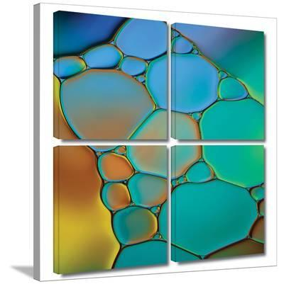 Connected II 4 piece gallery-wrapped canvas-Cora Niele-Gallery Wrapped Canvas Set