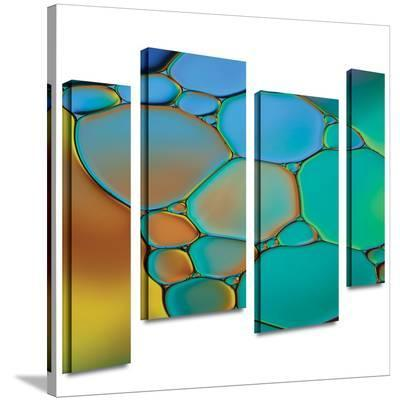 Connected II 4 piece gallery-wrapped canvas-Cora Niele-Gallery Wrapped Canvas