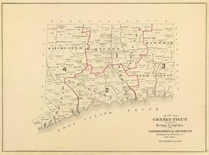 Connecticut: Congressional Districts, c.1893