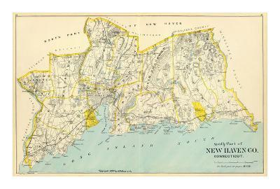 Connecticut: New Haven County South, c.1893--Art Print