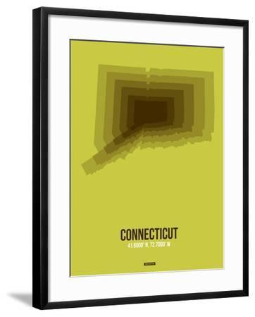 Connecticut Radiant Map 2-NaxArt-Framed Art Print