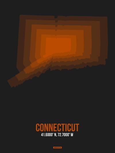 Connecticut Radiant Map 4-NaxArt-Art Print