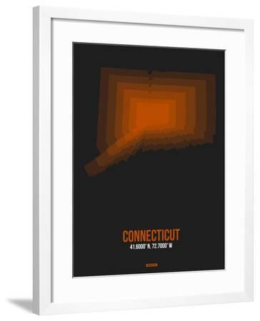 Connecticut Radiant Map 4-NaxArt-Framed Art Print