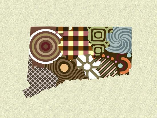 Connecticut State Map-Lanre Adefioye-Giclee Print