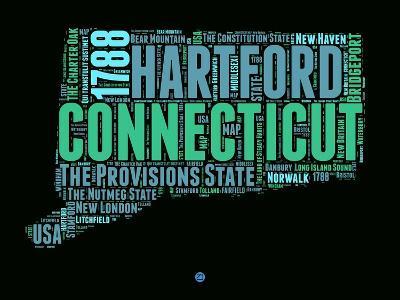 Connecticut Word Cloud 1-NaxArt-Art Print