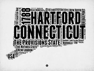 Connecticut Word Cloud 2-NaxArt-Art Print