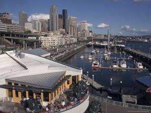 Bell Street Pier and Harbor on Elliott Bay, Seattle, Washington, USA by Connie Ricca