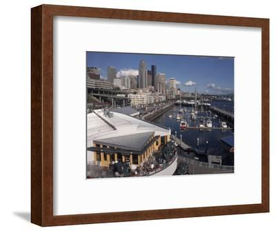 Bell Street Pier and Harbor on Elliott Bay, Seattle, Washington, USA