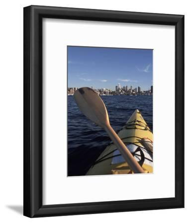 Kayaking on Lake Union, Seattle, Washington, USA