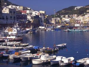 Port at Village of Ponza, Pontine Islands, Italy by Connie Ricca