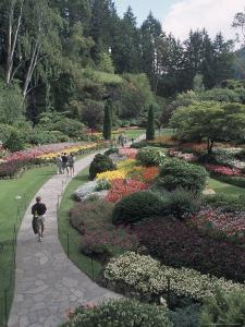 Sunken Garden at Butchart Gardens, Vancouver Island, British Columbia, Canada by Connie Ricca