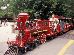 Train and Conductor at Forest Park, St. Louis Zoo, St. Louis, Missouri, USA by Connie Ricca