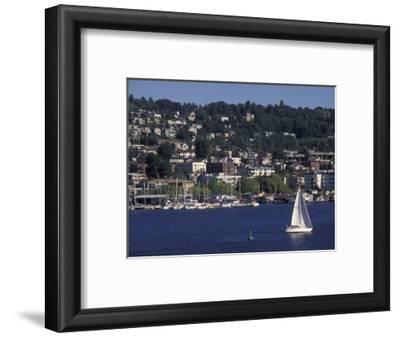 View of Lake Union and Capitol Hill Neighborhood, Seattle, Washington, USA