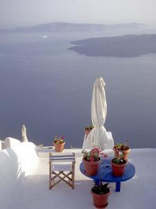 View of Water, Santorini, Greece by Connie Ricca