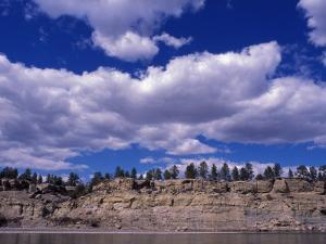 Yellowstone River at Pompeys Pillar National Historic Landmark, Billings, Montana by Connie Ricca