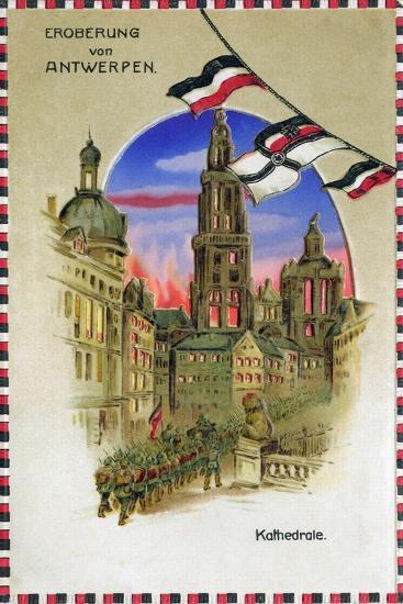 """Conquest of Antwerp - Cathedral"", 1914--Giclee Print"