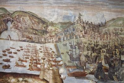 Conquest of Lisbon by Admiral Alvaro Bazan, August 28, 1580--Giclee Print