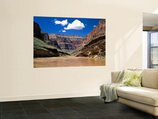 Conquistador Aisle of the Colorado River From Blacktail Canyon, Grand Canyon National Park, Arizona-Bernard Friel-Wall Mural