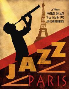 Jazz in Paris, 1970 by Conrad Knutsen