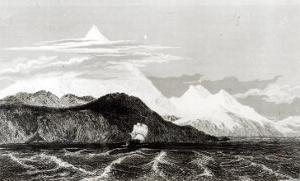 Mount Sarmiento, Engraved by Thomas Landseer by Conrad Martens