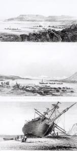"""Scenes of the """"Beagle"""" Being Repaired, on the Distant Cordillera of the Andes by Conrad Martens"""