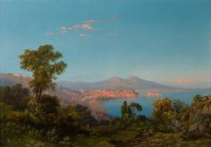View of the Bay of Naples by Consalvo Carelli