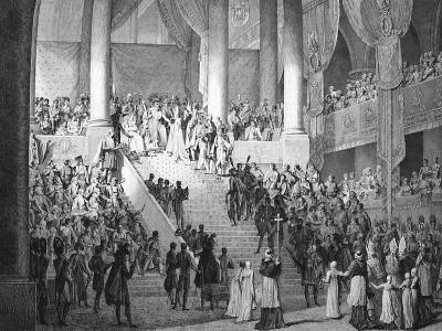 Consecration of Napoleon and Coronation of Josephine by Pope Pius VII, 2nd December 1804--Giclee Print