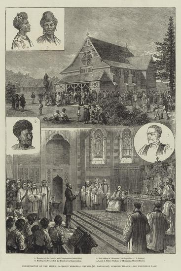 Consecration of the Bishop Patteson Memorial Church (St Barnabas), Norfolk Island--Giclee Print