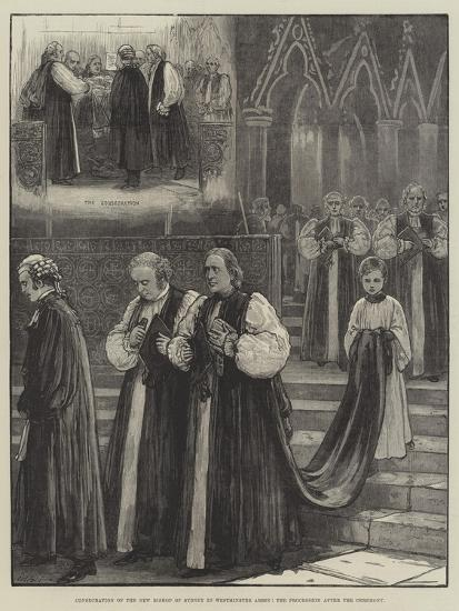 Consecration of the New Bishop of Sydney in Westminster Abbey, the Procession after the Ceremony--Giclee Print