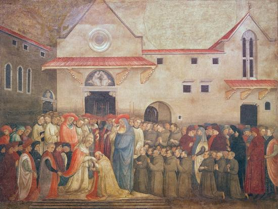 Consecration of the New Church of St. Egidio by Pope Martin V, September 1420, 1430S-Bicci di Lorenzo-Giclee Print